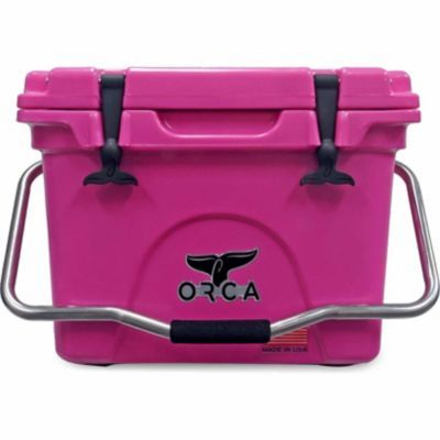 Orca Pink 20 Qt Ice Retention Cooler Keeps Chilled For Up To 10 Days Perfect For Camping Tailgating And More Pink Tools Pink Tool Box Orca Cooler