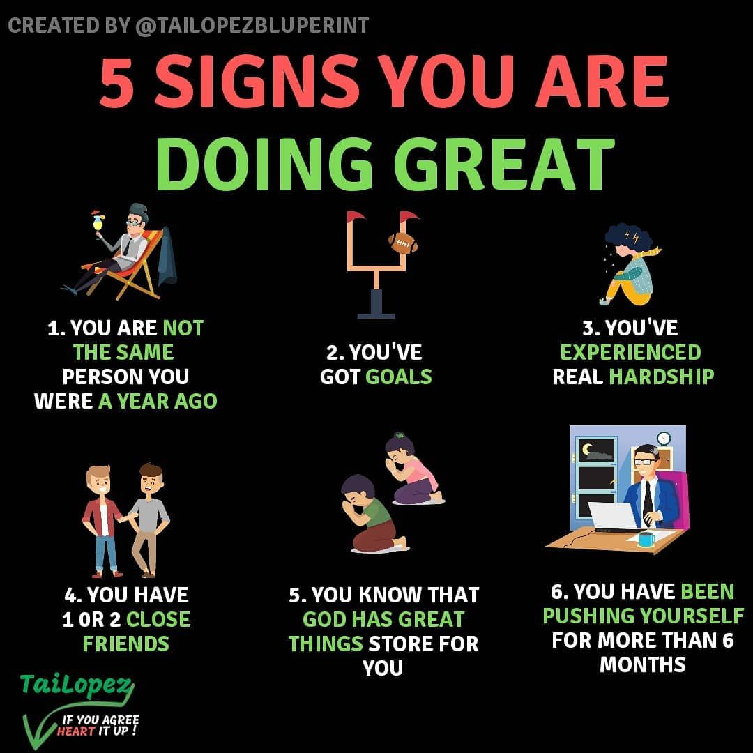 5 Signs You Are Doing Better Than You Think Which Number Are