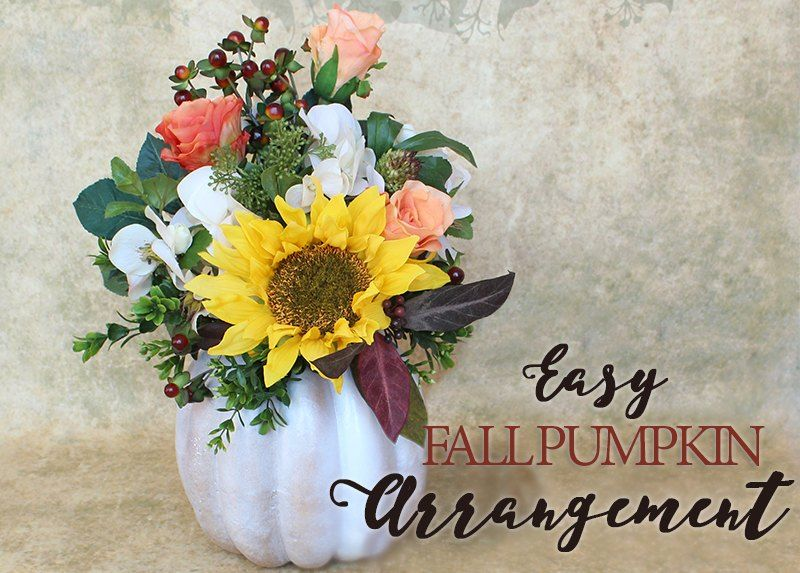 32+ Fake pumpkin flower arrangements ideas
