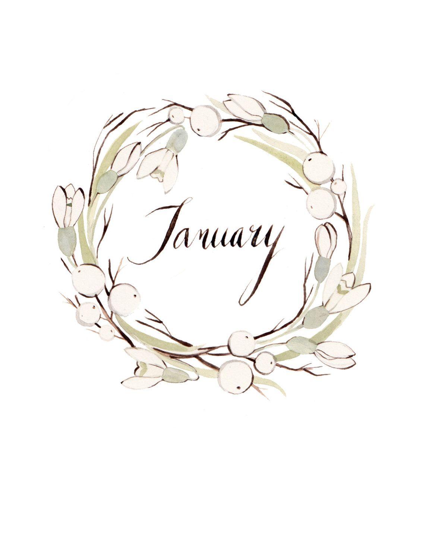January Wreath 8.5x11 by KelseyGarrityRiley on Etsy, $20.00 ...