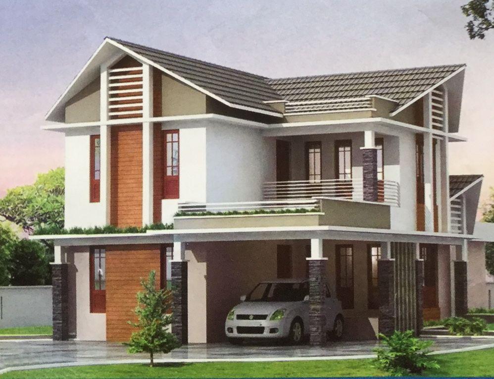 Two Floors House Exterior Design Modern Exterior Ceiling Design