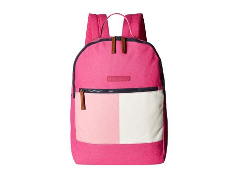 TOMMY HILFIGER Flag Color Block Backpack - Canvas. #tommyhilfiger #bags #canvas #backpacks #