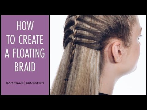 cebe566fd4f8f How to Create a Floating Braid with a French Braid Technique - YouTube  Peinados Poco Cabello