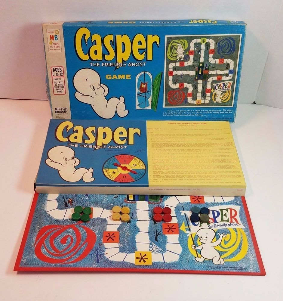 Details about Board Game Casper The Friendly Ghost 1959