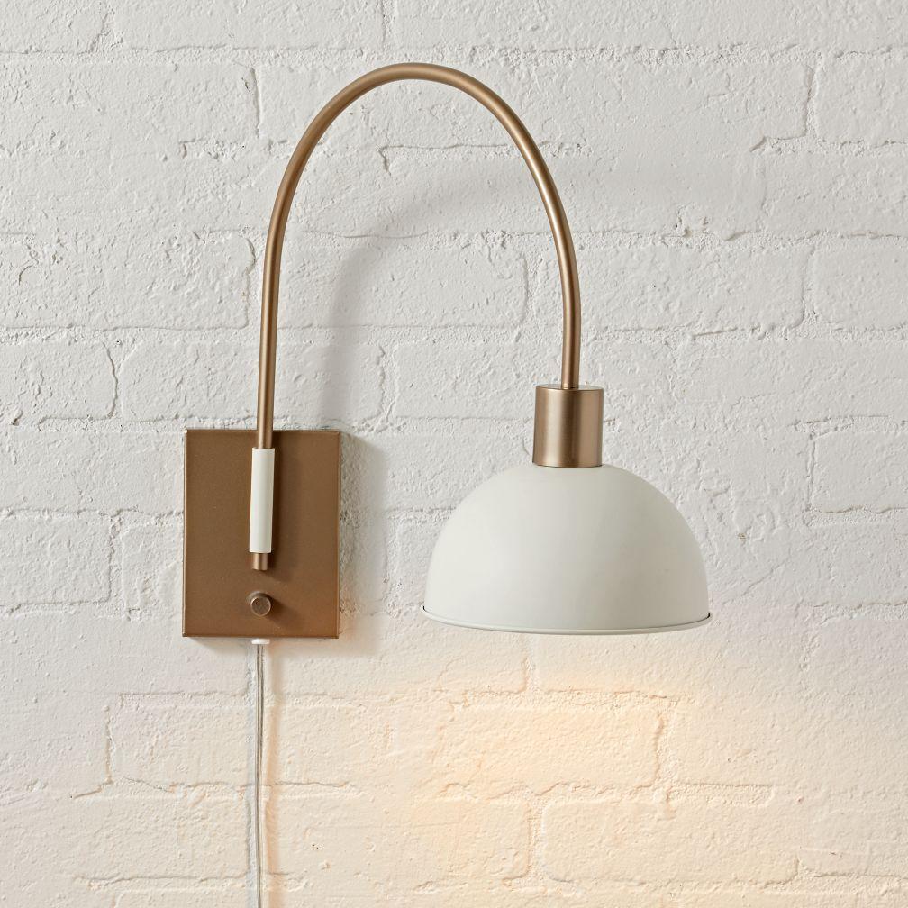 Spotlight White And Gold Pendant Adjustable Lighting Wall Lights Wall Mounted Light