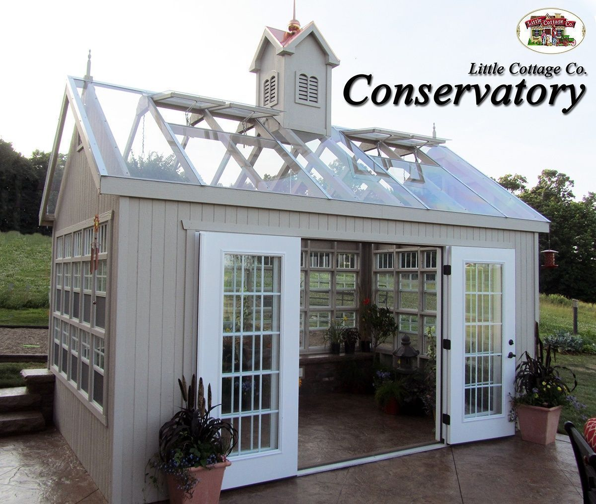 The Conservatory Greenhouse From Little Cottage Company Can Make A Great She Shed Conservatorygreenhouse Building A Shed What Is A Conservatory Shed Plans