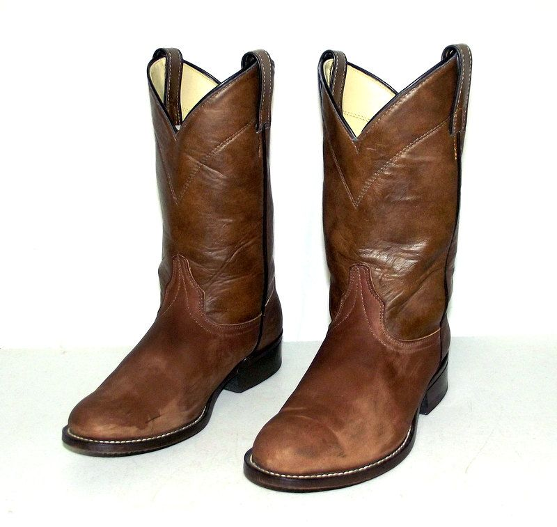 Tan Brown Cowgirl boots - womens size 7.5 M - Laredo brand cowboy western wear by honeyblossomstudio on Etsy