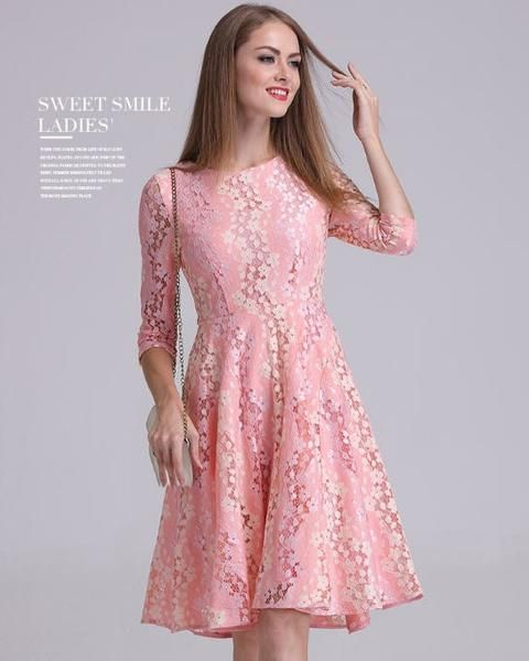 pink dresses for women