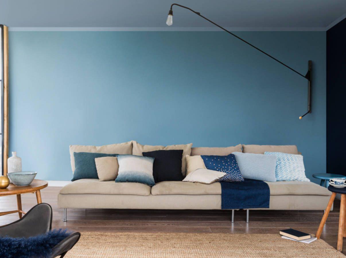 Salon bleu gris dulux valentine 4 | Décoration d\'Intérieur | Pinterest