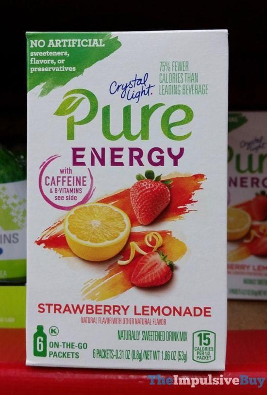 Crystal Light Pure Energy Strawberry Lemonade Jpg Strawberry Lemonade Energy Foods Crystal Light Pure