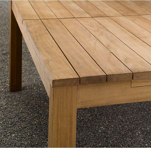 RHs Belvedere Extension Dining TableModern Minimalism Combines - Outdoor teak extension dining table