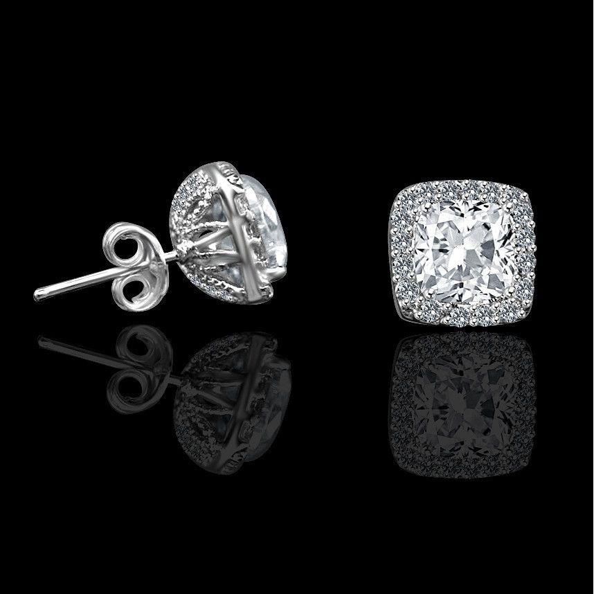 Silver XL Crystal Druzy Princess Studs