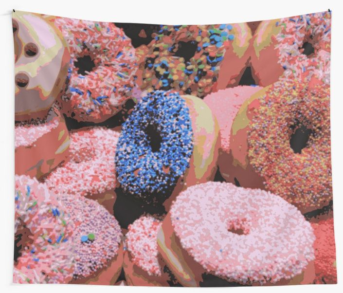 Donuts Wall Tapestry by JUSTART on Redbubble