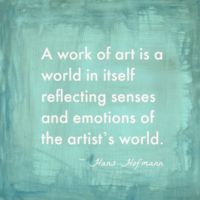 A Work Of Art Is A World In Itself Reflecting Senses And Emotions