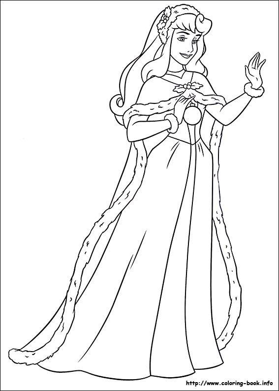 Christmas Friends coloring picture | Disney\'s Princess Coloring ...