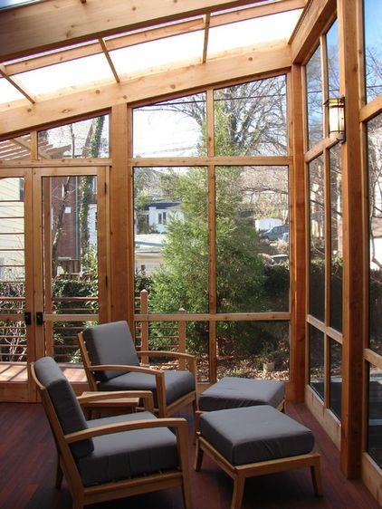 Screen Porch Details Glass Porch Clear Roof Panels Screened In