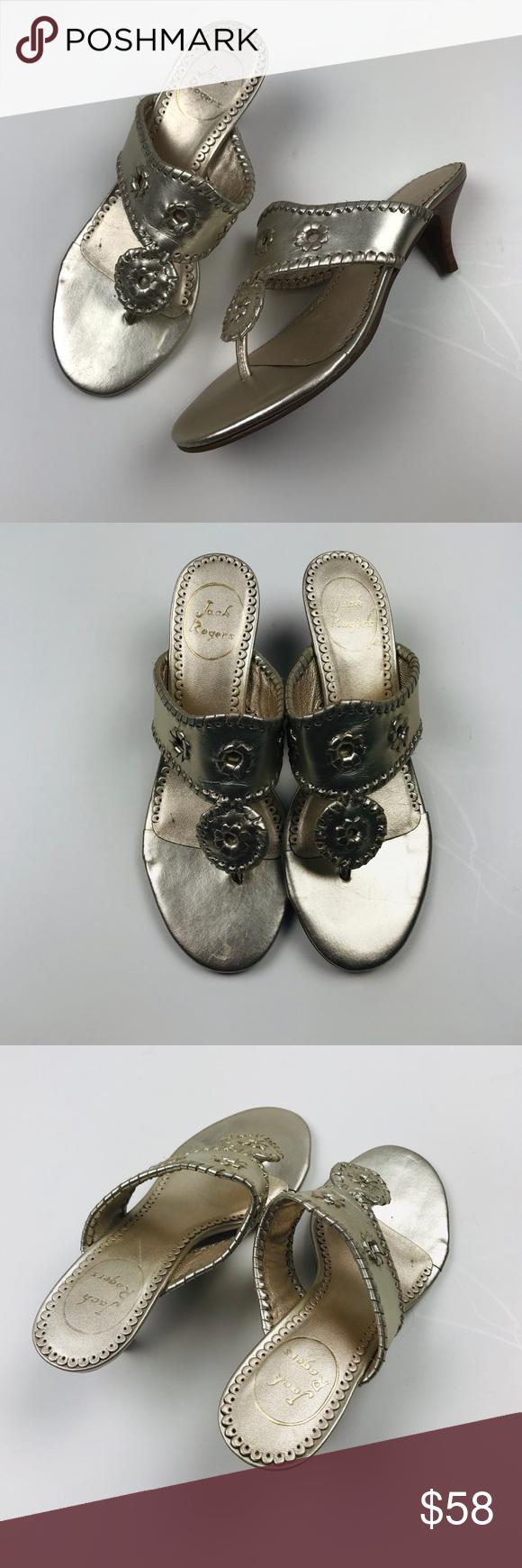 Jack Rogers Marina Kitten Heel Shoes Gold 6 With Images Kitten Heel Shoes Shoes Women Heels Kitten Heels