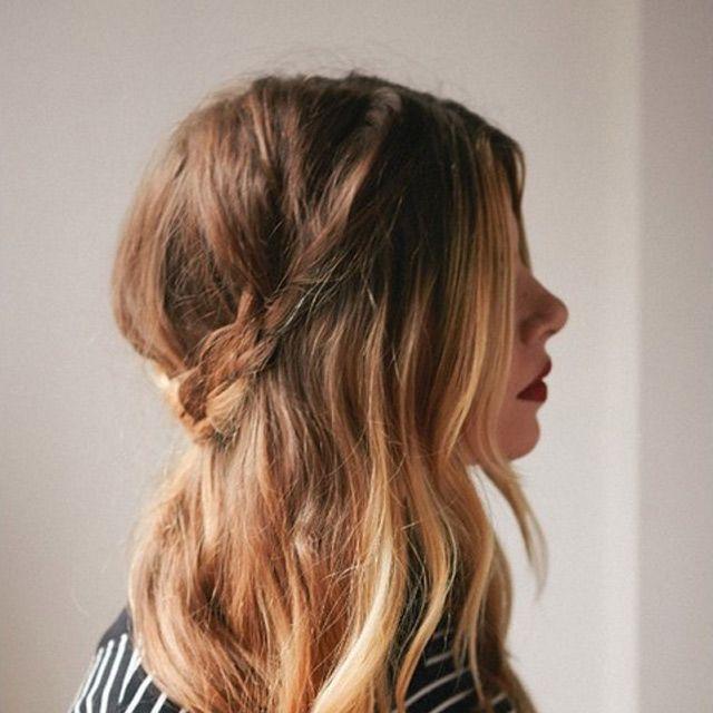 Tresses cheveux longs  Coupé, Coiffures et Photos