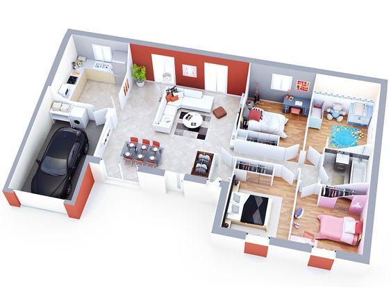 maison petit budget althen top duo piantine case Pinterest - Logiciel De Plan De Maison 3d Gratuit