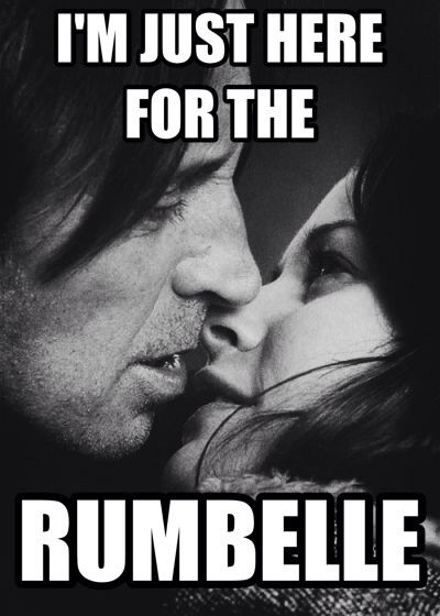 Love my Rumbelle! Never giving up on this ship.