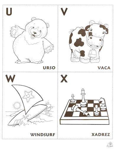 Alfabeto Para Colorir Pintar Imprimir Em Fichas Alfabeto