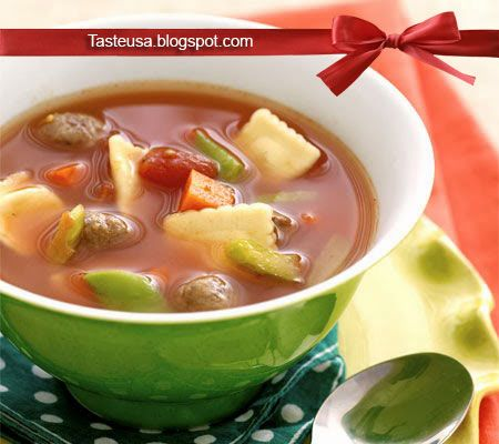 ravioli and meatball soup recipe