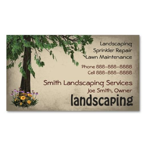Landscaping lawn care services business card lawn care lawn and landscaping lawn care services business card colourmoves Gallery