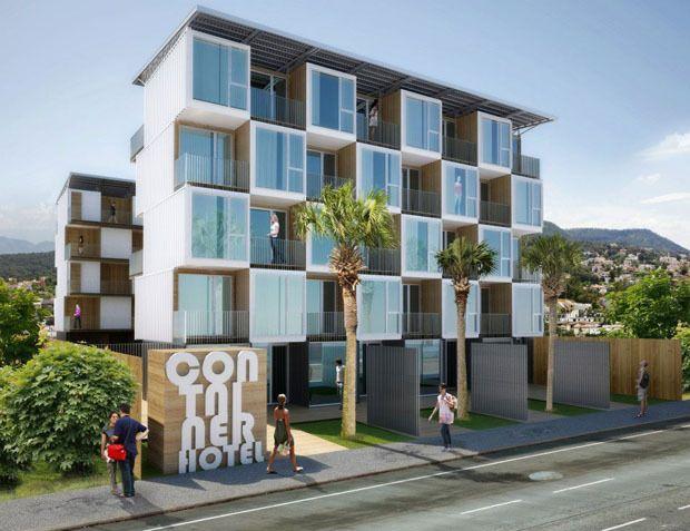 Shipping Container Hotel Buscar Con Google Edificaciones