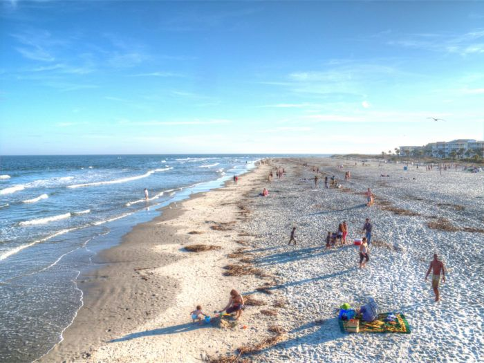 The Underrated Beach With The Whitest Most Pristine Sand In Georgia Georgia Beaches Tybee Island Beach Day Trips