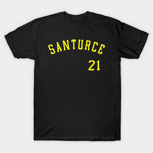 new products 02afc 4c3c1 Santurce 21 Puerto Rico Baseball Shirt // Roberto Clemente ...