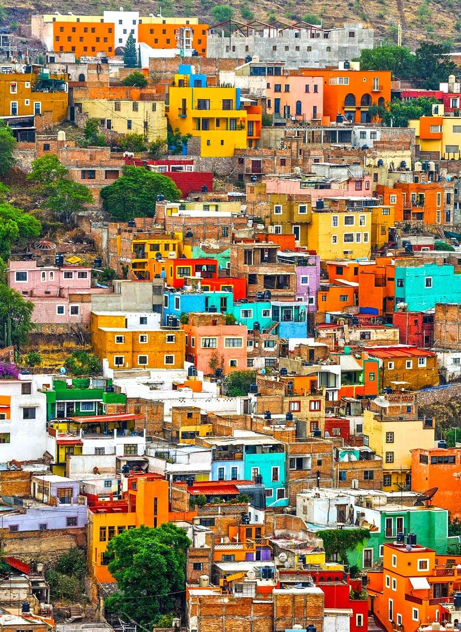 Colorful Houses Of Guanajuato Mexico 10 Of The Most