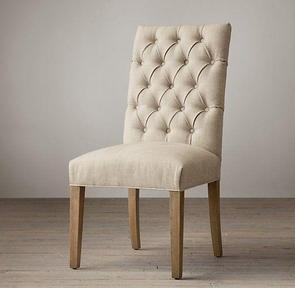 $224, Restoration Hardware Bennett Parsons Upholstered Side Chair, Avail In  Light Brown Or Dark