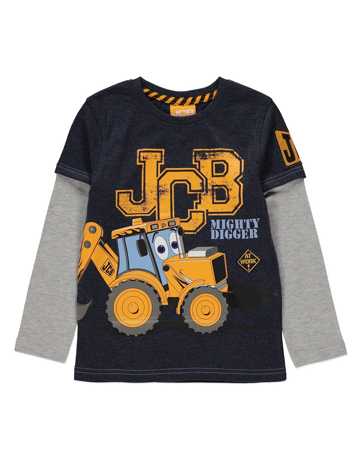 Black t shirt asda - Jcb Digger T Shirt Kids George At Asda
