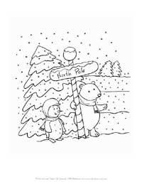 Santa S North Pole Mailbox Coloring Page Printout More Fun