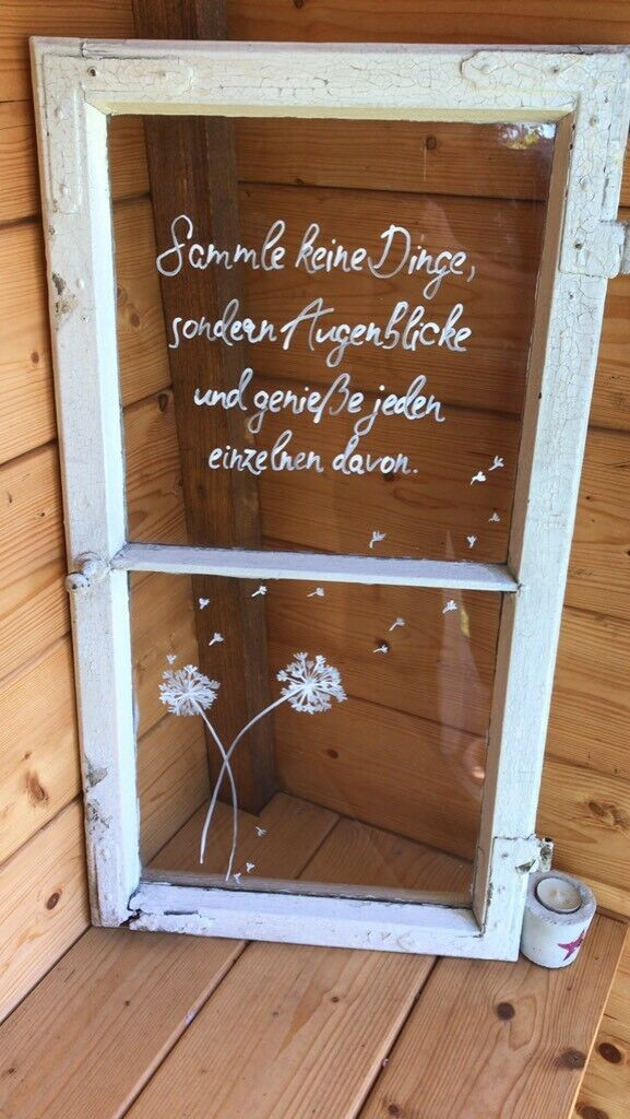 Deko, Garten, shabby chic, Muttertag, alte Fenster in