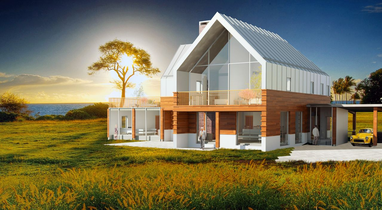 Contemporary farm house jersey architects modern for Modern house designs uk