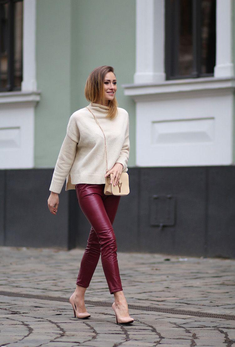 Lederhose Für Damen Gekonnt Kombinieren U2013 20 Street Style Outfits    Dekoration Gram