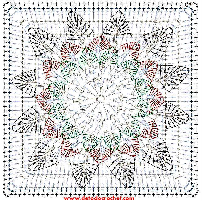 patron-cuadro-girasol-crochet.jpg (647×643) | croche | Pinterest ...