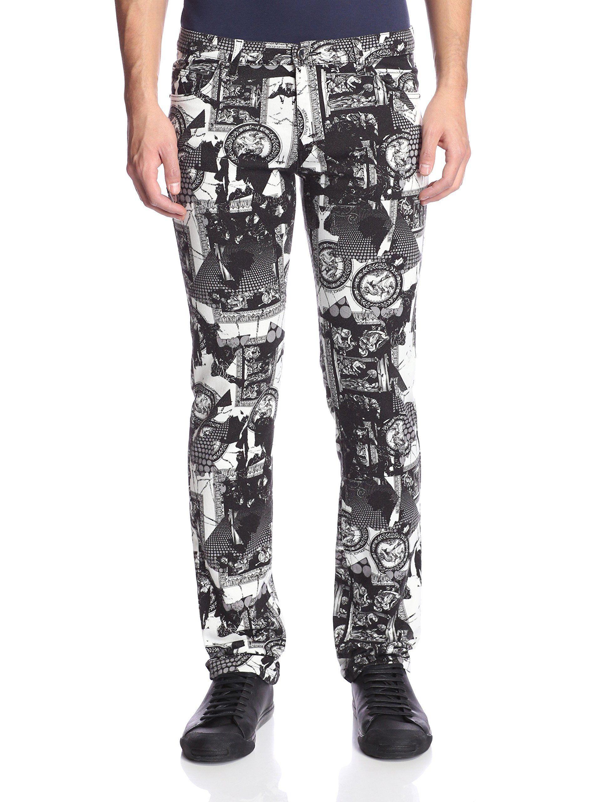 nice Versace Jeans Men's Allover Print Slim Jeans