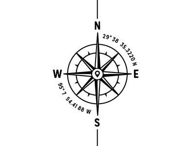 Long Compass Tattoo
