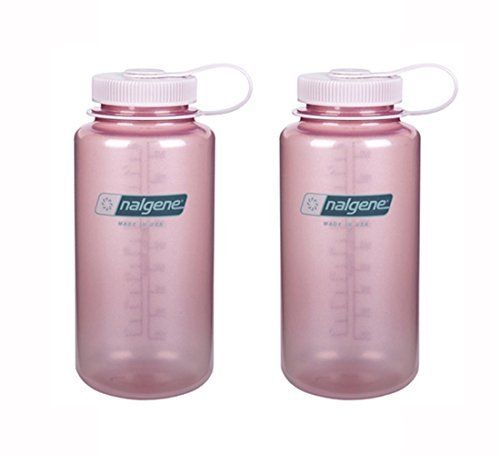 Nalgene Tritan Wide Mouth Light Pink With Light Pink Cap 32oz Set Of 2 Click Image For More Details Fancy Water Bottles Nalgene Tritan Wide Mouth Bottle