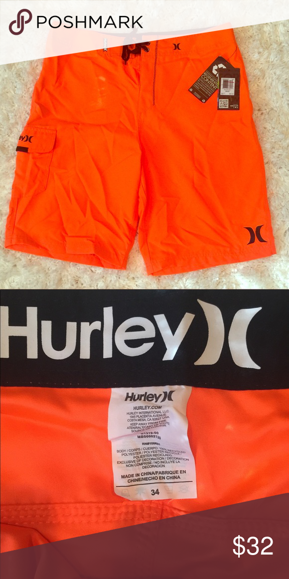 9441a6365b Men's Hurley Board Shorts-34 Brand new with tags orange Hurley board shorts  . Hurley Swim Board Shorts