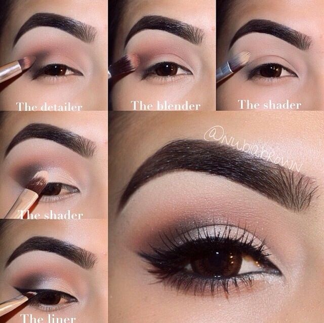 Step By Step Eye Makeup Pics My Collection Make Up Pinterest