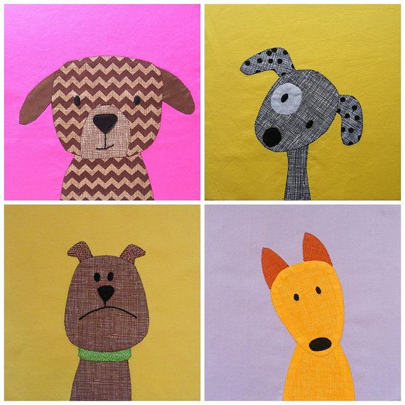 Puppy Dog Quilt Applique Pattern Pdf Quilts Pinterest Dog