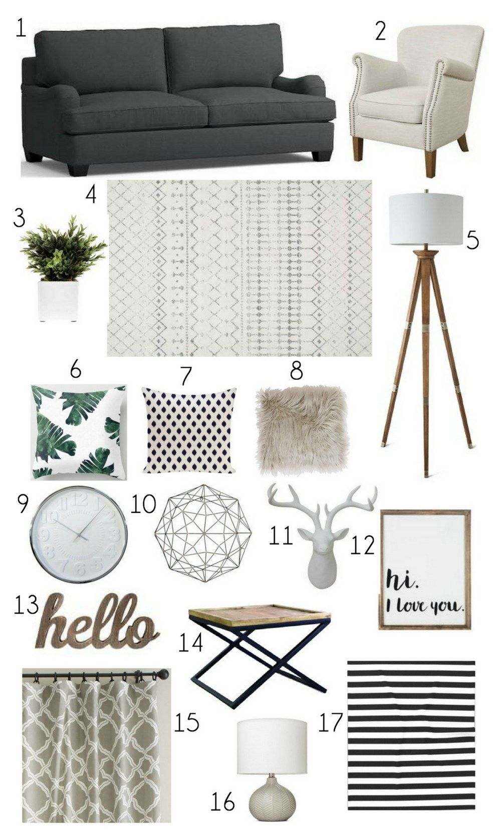 Neutral Living Room Grey Mood Board Decor Ideas On A Budget