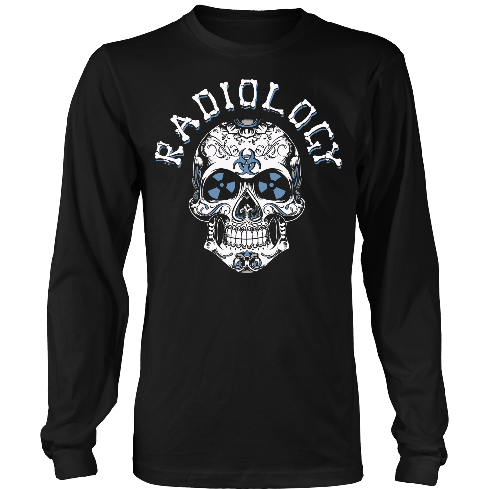 Radiology Skull 2 Long Sleeve Shirt Rad Tech Shirt