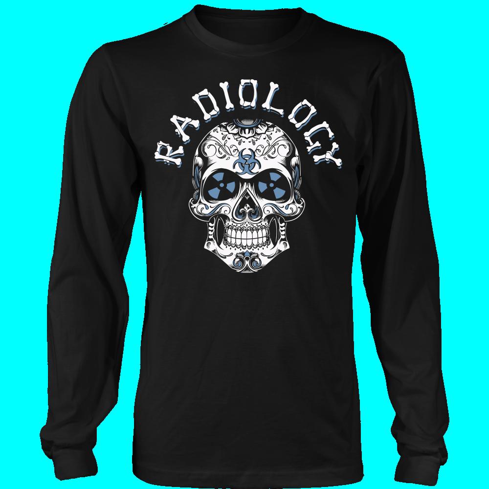 Radiology skull 2 long sleeve shirt radiology rad tech and tech radiology skull 2 long sleeve shirt buycottarizona Image collections