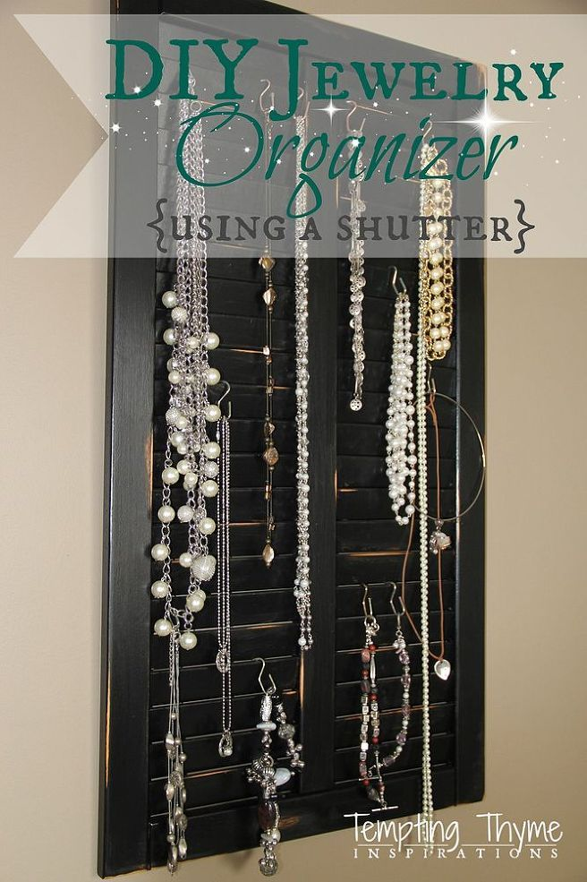 DIY Jewelry Organizer from an Old Shutter Cabinet Door Diy