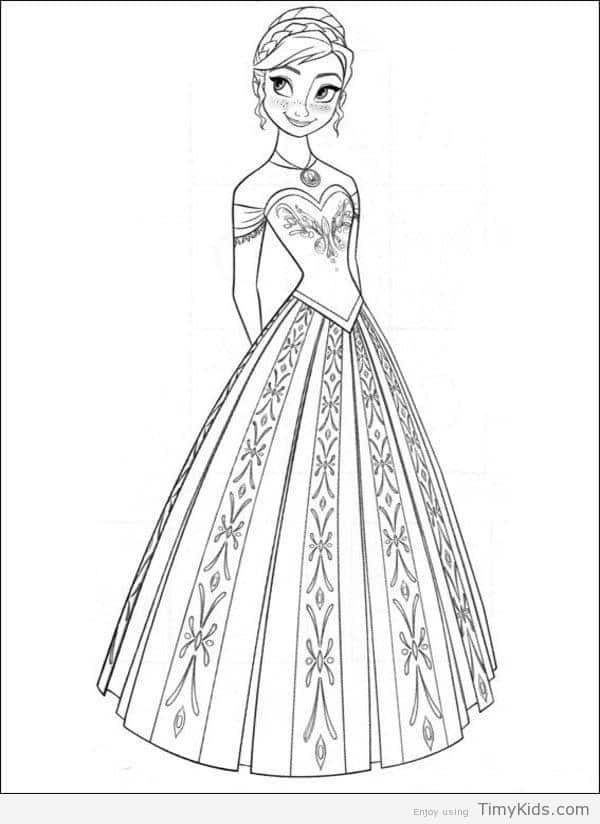 Disney Princess Coloring Pages Frozen Anna Frozen Coloring Pages Frozen Coloring Princess Coloring Pages