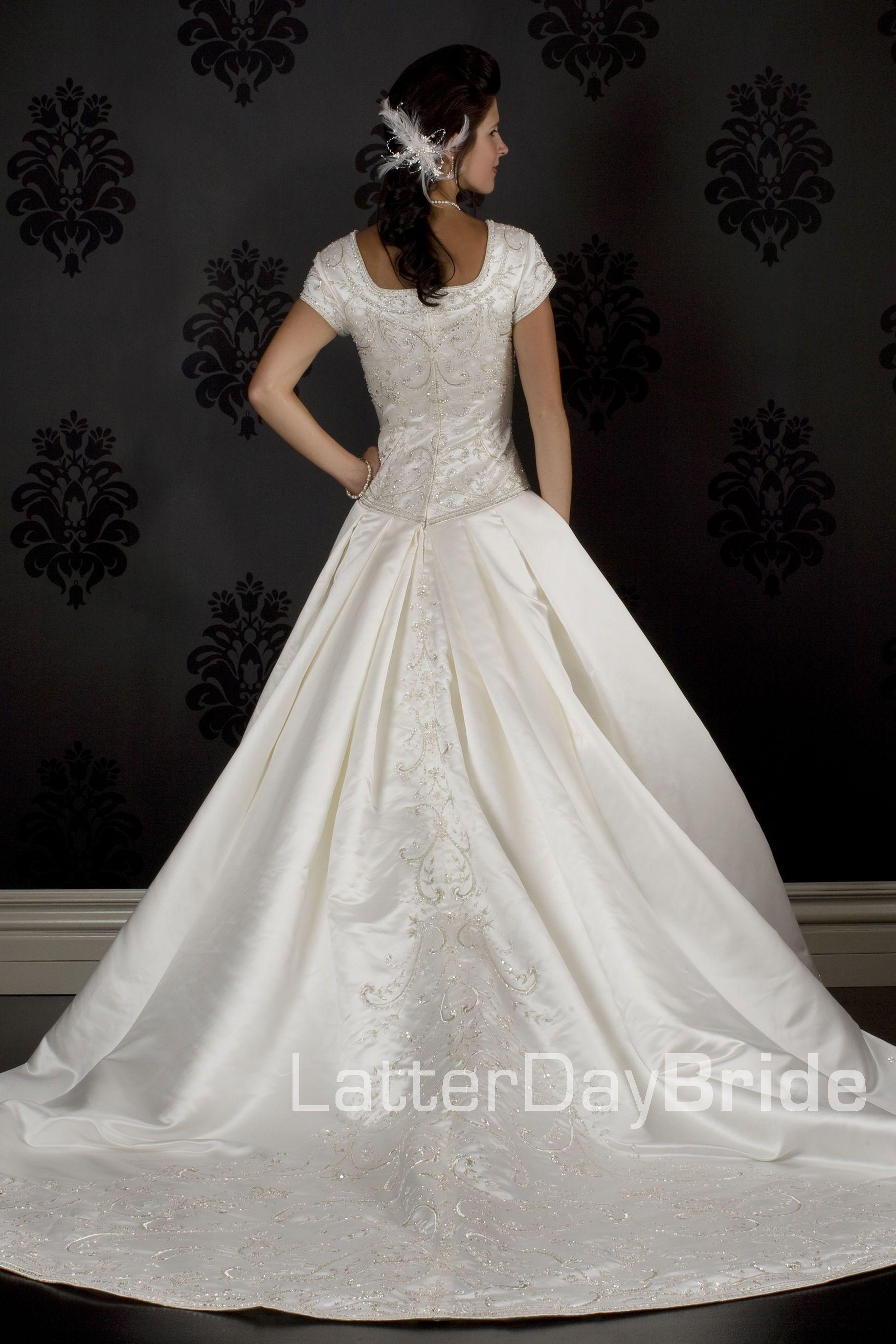 Modest Wedding Dress, Merlino LatterDayBride & Prom